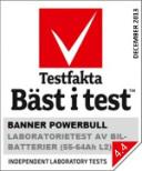 Bilbatteri 12V 60Ah Banner PowerBull P6009 P6205. LxBxH:241x175x175mm Testfaktavinnare Testfakta November 2015!