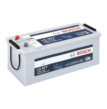 Fritidsbatteri 12V 180Ah Bosch L5077 LxBxH:470/513x223x223mm Kampanjpris med 15% rabatt.