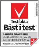 Bilbatteri 12V 60Ah Banner Power Bull P6069. LxBxH:233x173x203/225mm  Banner Bäst i Testfakta 2013 och 2015