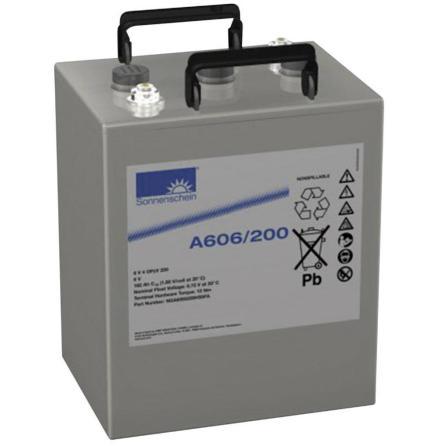 Gelbatteri 6V 182Ah Sonnenschein Exide A606/200 NGA6060200HSOFA 6V 4 OPZV200