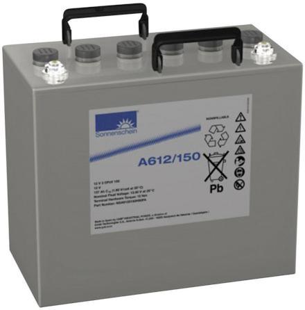 UPS Nätverksbatteri Gel12V91Ah Sonnenschein Exide A612/100 NGA6120100VSOFb 12V 2 OPzV 100