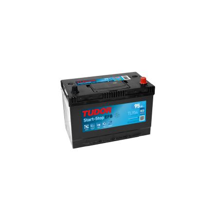 Bilbatteri 95Ah Tudor Exide TL954 Start-Stop EFB. LxBxH:306x173x222mm