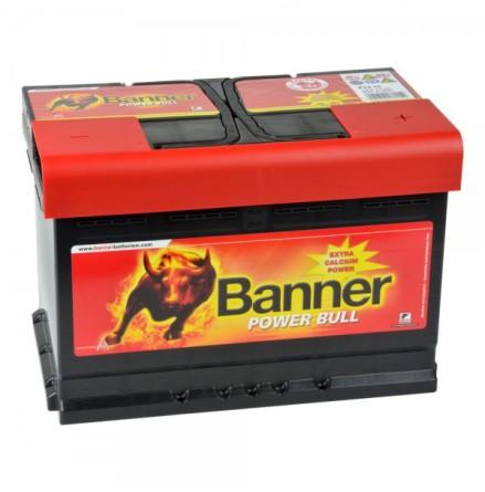 Bilbatteri 12V 74Ah Banner Power Bull. LxBxH:278x175x190mm  P7412  Banner Bäst i Testfakta 2013 och 2015