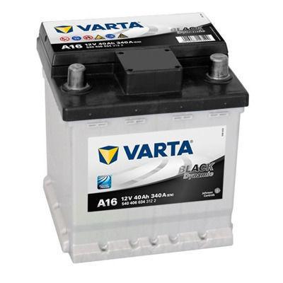 Bilbatteri 12V 40Ah Varta Black Dynamic A16. Ersätts av Varta B36
