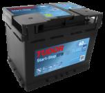Startbatteri 60Ah Tudor Exide TL600 EFB. LxBxH:242x175x190mm
