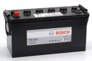 Bilbatteri 12V 100Ah Bosch T3071 DIN:600035060 LxBxH:413x175x220mm DIN:600035060
