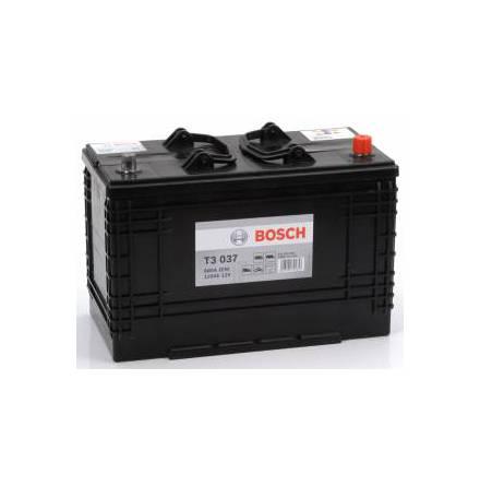 Startbatteri 12V 110Ah Bosch T3037 DIN: 610404068 LxBxH:350x175x239mm