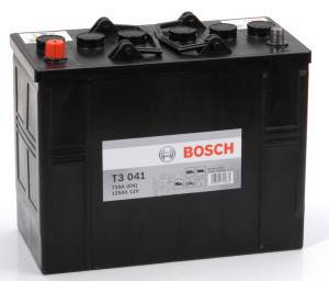 Startbatteri 12V 125Ah Bosch T3041 DIN: 625014072 LxBxH:349x175x290mm