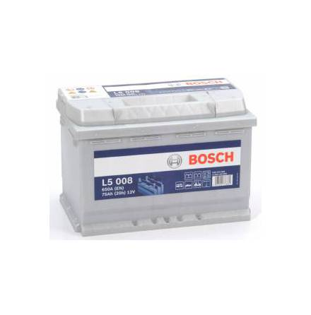 Fritidsbatteri 12V 75Ah Bosch L5008. LxBxH:278x175x190mm Kampanjpris 15% rabatt.