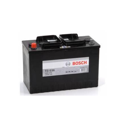 Startbatteri 12V 110Ah Bosch T3036 DIN: 610048068 LxBxH:350x175x239mm