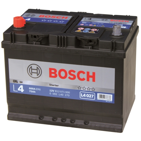 Fritidsbatteri 12V 75Ah Bosch LxBxH:260x175x225mm L4013 alt L4027