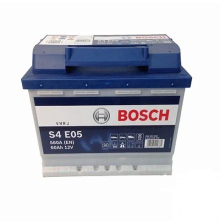 Bilbatteri 12V 60Ah Bosch S4E05 Start-stop LxBxH:242x175x190mm  DIN:560500056