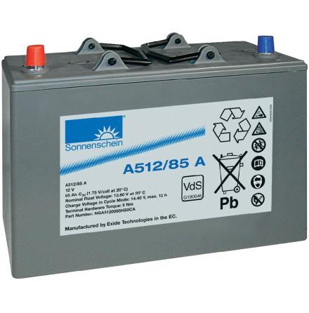 Gelbatteri 12V 85Ah Sonnenschein A512/85A. LxBxH:330x171x236mm
