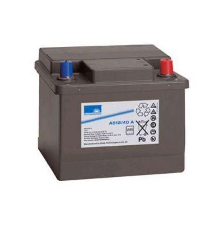 Gelbatteri 12V 40Ah Sonnenschein A512/40A. LxBxH:210x175x175mm