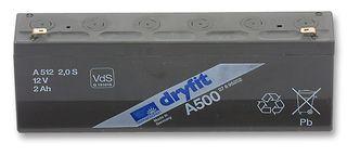 Gelbatteri 12V 2Ah Sonnenschein A512/2,0S. LxBxH:179x34,1x64,4mm