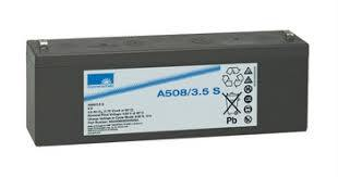 Gelbatteri 8V 3,5Ah Sonnenschein A508/3,5S. LxBxH:179x34,1x64,4mm