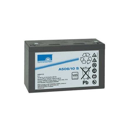 Gelbatteri 6V 10Ah Sonnenschein A506/10S. LxBxH:152x50,5x98,
