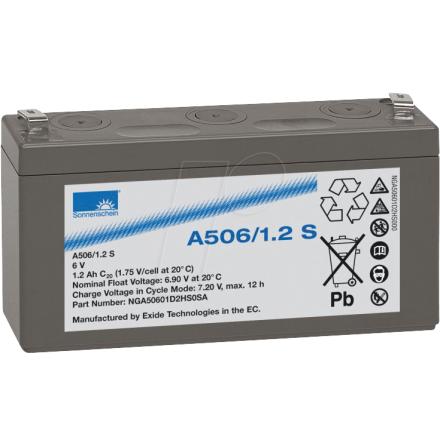 Gelbatteri 6v 1,2ah Sonnenschein LxBxH:97,3x25,5x5