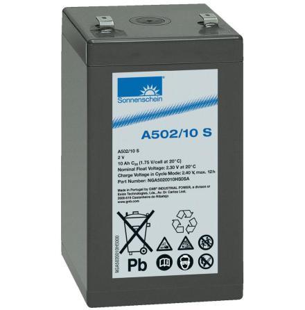 Gelbatteri 2V 10Ah Sonnenschein A502/10S. LxBxH:52,9x50,5x98,4mm