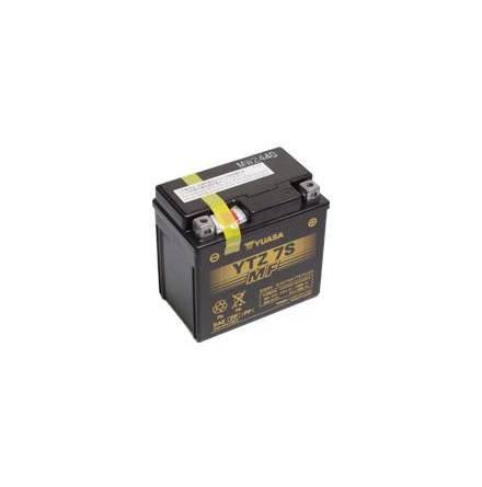 YUASA MC batteri 6Ah YTZ7S lxbxh=113x70x105mm Fylld och laddad. Klar att användas.