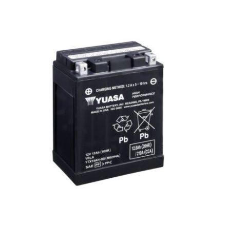 YUASA MC batteri YTX14AH-BS LXBXH=134x89x166mm