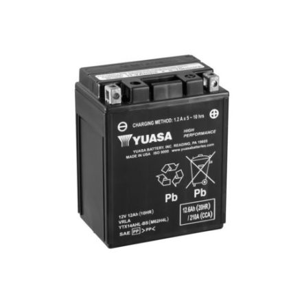 YUASA MC batteri YTX14AHL-BS LXBXH=134x89x166mm