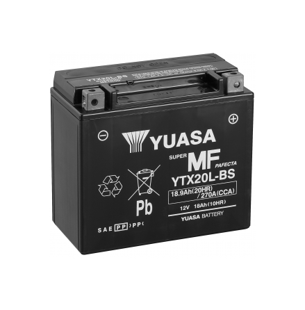 YUASA MC batteri YTX20L-BS lxbxh=175x87x155mm