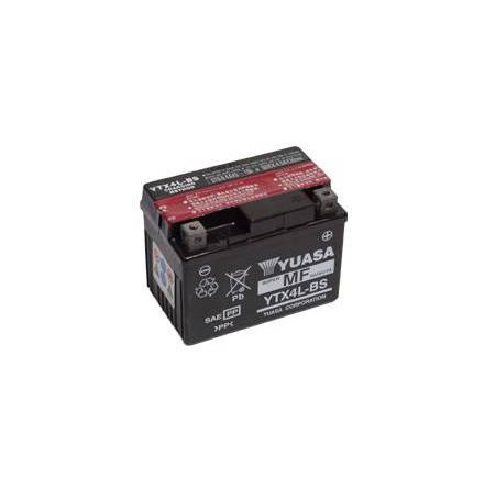 YUASA MC batteri YTX4L-BS LxBxH: 114x71x86mm