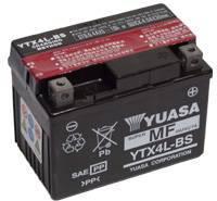 YUASA MC batteri 3Ah YTX4L-BS lxbxh=114x71x86mm