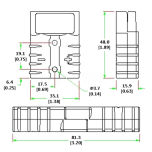 Laddhandske S50 Grå 16kvmm