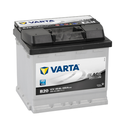 Bilbatteri 12V 45Ah Varta Black Dynamic B20 LxBxH=207x175x190mm 545413040