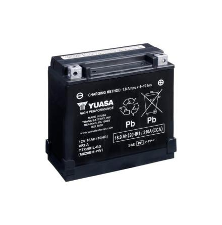 YUASA MC batteri YTX20HL-BS-PW lxbxh=175x87x155/175mm