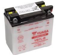YUASA MC batteri YB7L-B 8Ah lxbxh=135x75x133mm