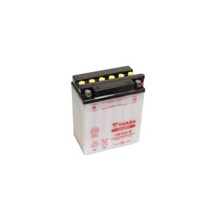 YUASA MC batteri YB12A-B LxBxH: 134x80x160mm