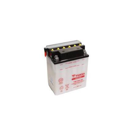 YUASA MC batteri YB14A-A2 LxBxH: 134x89x176mm