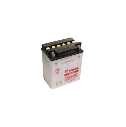 YUASA MC batteri YB14L-B2 14Ah lxbxh=134x89x166mm