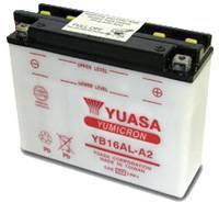YUASA MC batteri YB16AL-A2 14Ah lxbxh=207x71,5x164mm