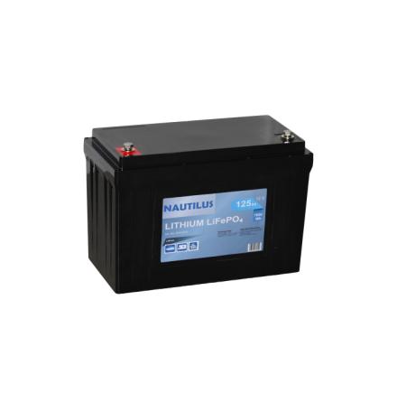 Lithium batteri  Till båt, husbil mm.12,8V 125Ah Tudor lxbxh=318x165x215mm Exide Nautilus med BMS. 1600Wh