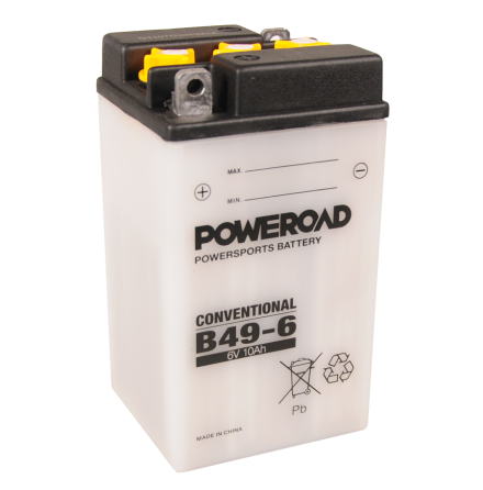 MC batteri Poweroad 6V 10Ah B49-6