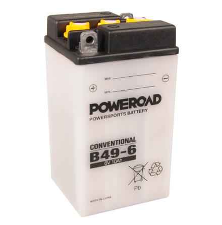 MC-batteri 6V 10Ah B49-6 Poweroad lxbxh=91x83x160mm