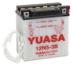 YUASA MC batteri 12N5-3B 5Ah lxbxh=120x60x130mm
