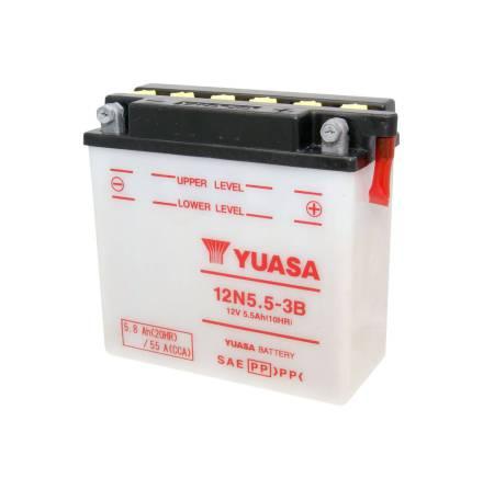 YUASA MC batteri 12V 5,5Ah 12N5.5-3B LxBxH:135x60x130mm