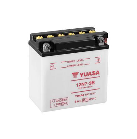 YUASA MC batteri 12V 7Ah 12N7-3B LxBxH:135x75x133mm