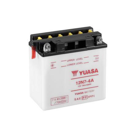 YUASA MC batteri 12V 7Ah 12N7-4A LxBxH:135x75x133mm