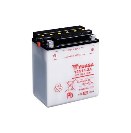 YUASA MC batteri 12V 14Ah 12N14-3A lxbxh=134x89x166mm