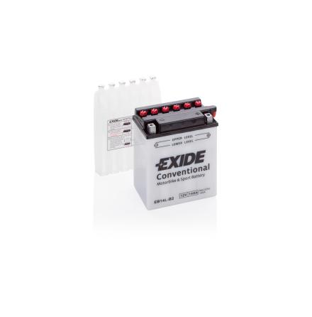 Tudor Exide MC batteri 14Ah YB14L-B2 lxbxh=134x89x166mm 145CCA(EN)