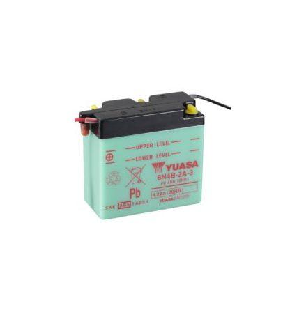 YUASA MC batteri 6N44B-2A-3 4Ah lxbxh=102x48x96mm