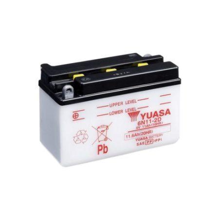 YUASA MC batteri 6V 11Ah 6N11-2D 4Ah lxbxh=150x70x1006mm