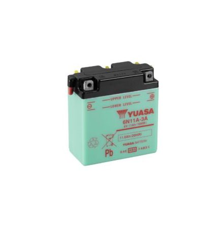 YUASA MC batteri 6V 6Ah 6N6-3B-1 4Ah lxbxh=99X57X111mm