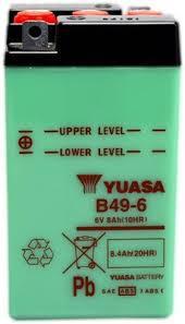 YUASA MC batteri 6V 8Ah B49-6 lxbxh=91x83x161mm